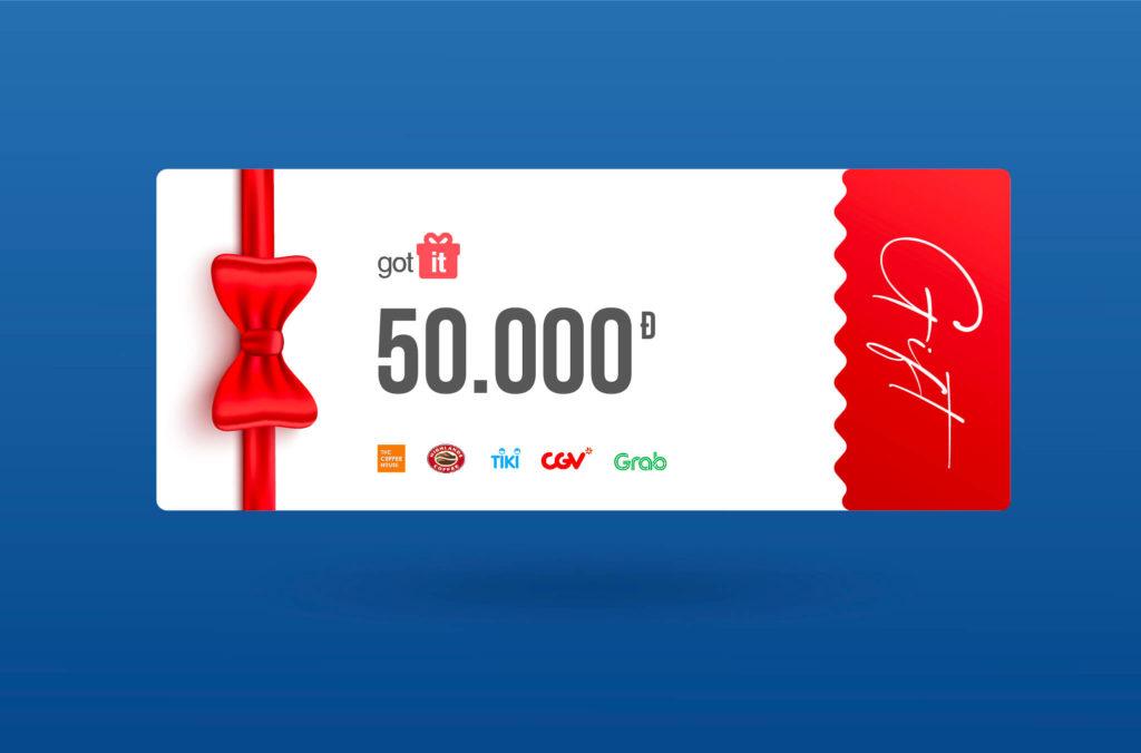 Tặng bạn voucher GotIt 50.000 khi tham gia bảo hiểm Tai nạn cơ bản của BIDV MetLife