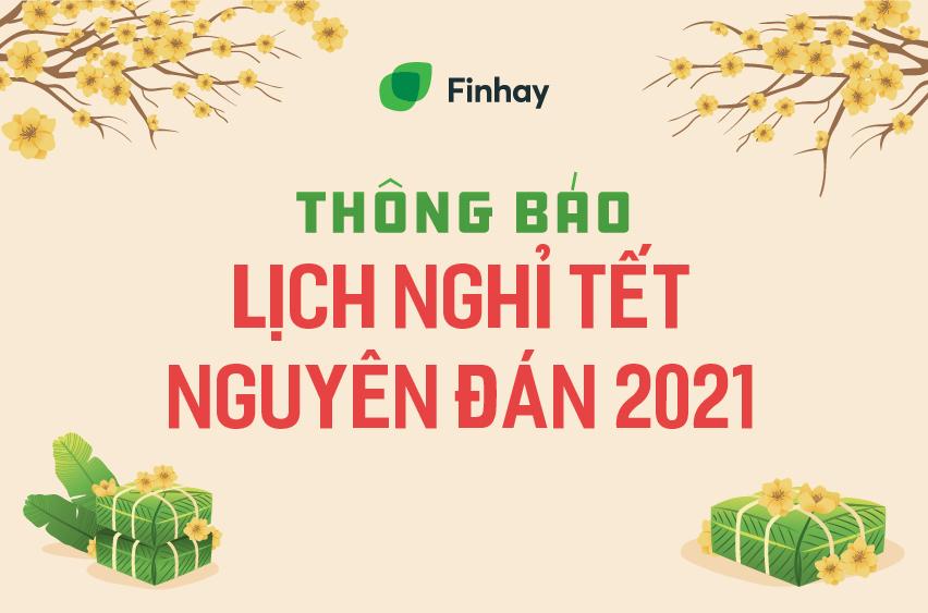 Finhay thông báo lịch nghỉ Tết dương lịch 2021